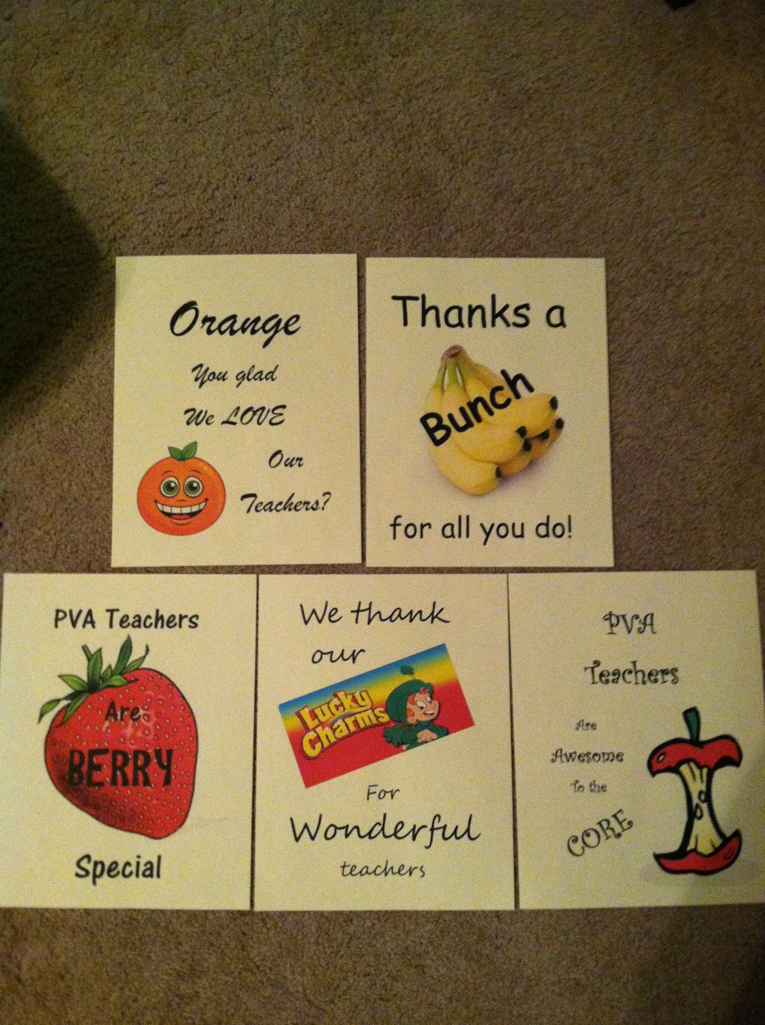 teacher appreciation week these coincide with a theme for