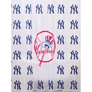 Ny Yankees Shower Curtain Bathroom Sets Bath Accessories Set