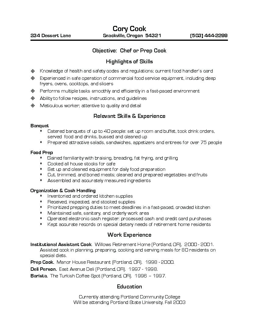Barista Cover Letter Chef Resume Cover Letter Restaurant Sample  Home Design Idea