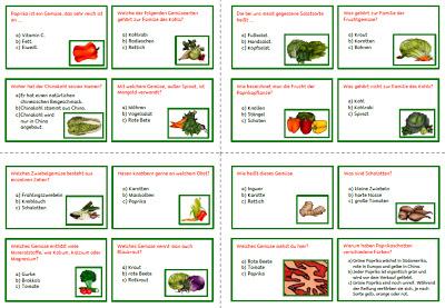 Gemuse Quiz Krabbelwiese Obst Und Gemuse Obst