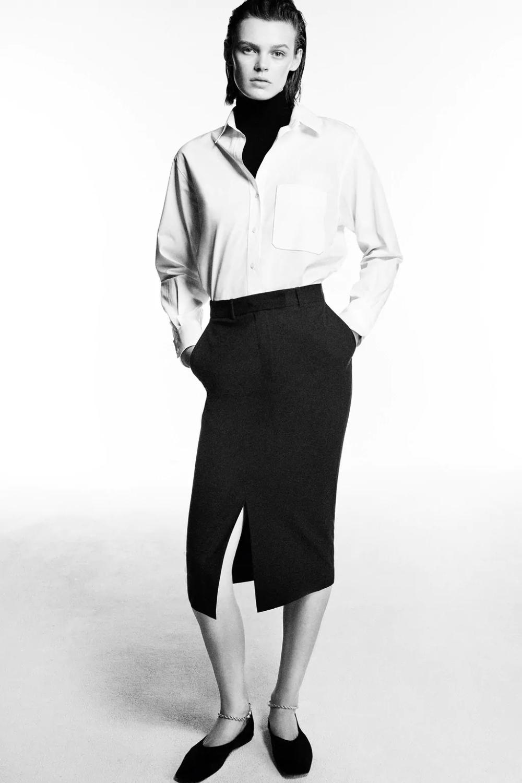 νέες αφίξεις στη γυναικεία κολεξιόν Zara ελλαδα Vinyl Leggings Fashion Pencil Skirt