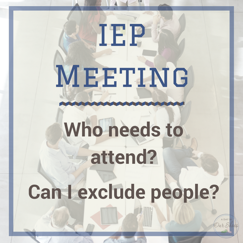 Who should attend my IEP meeting? Too many people at your IEP meeting? The needed staff didn't attend? Here's who needs to attend your IEP meeting and how to make that happen.
