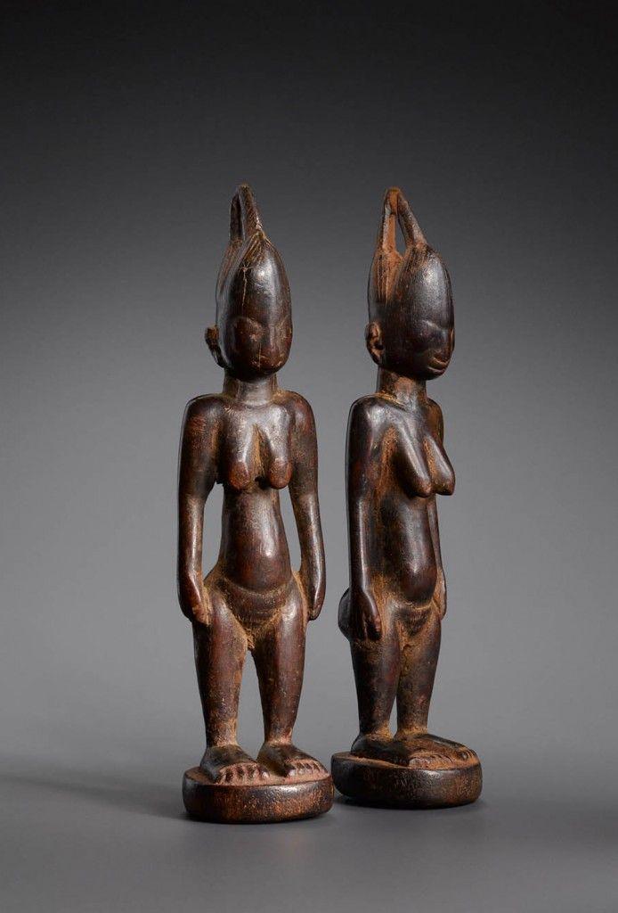 statue africaine jumeaux
