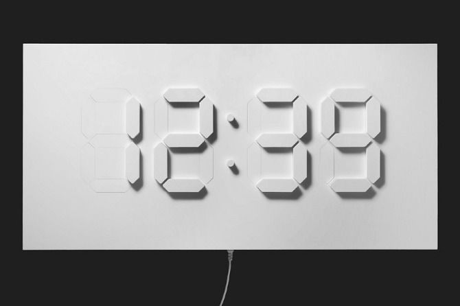 I Love The Delicate Shadow Of This 3 D Clock Paper Clock Wall