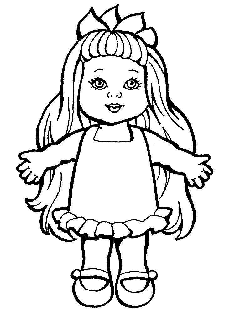 Imprimir Dibujos Para Colorear Muneca Para Niños Y Niñas