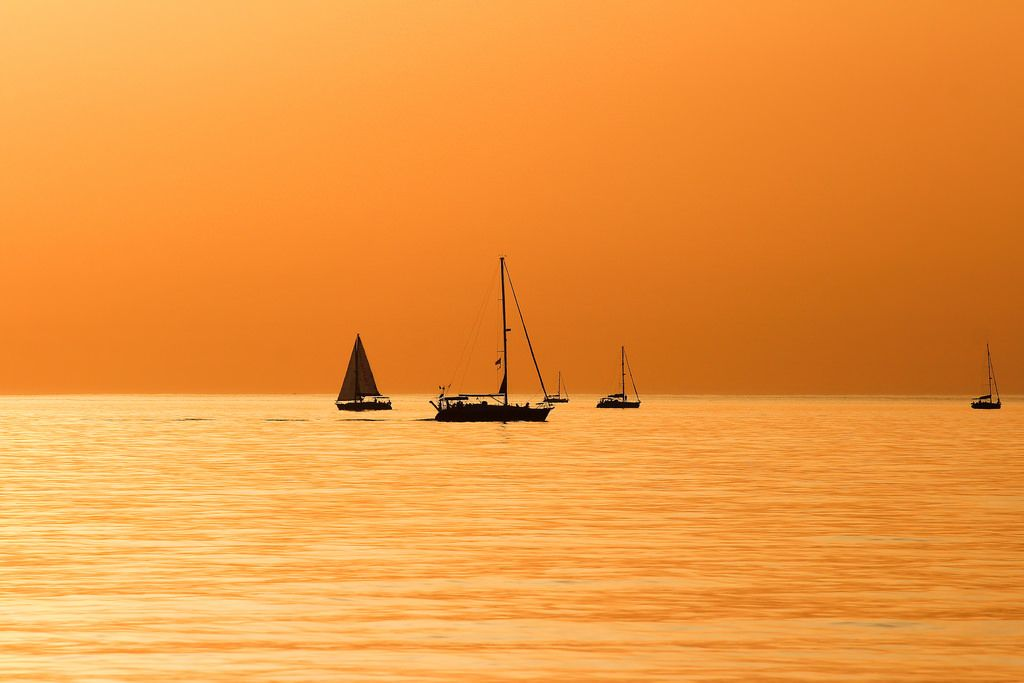 sailing in a golden world | Tel-Aviv beach | By: Lior. L | Flickr - Photo Sharing!