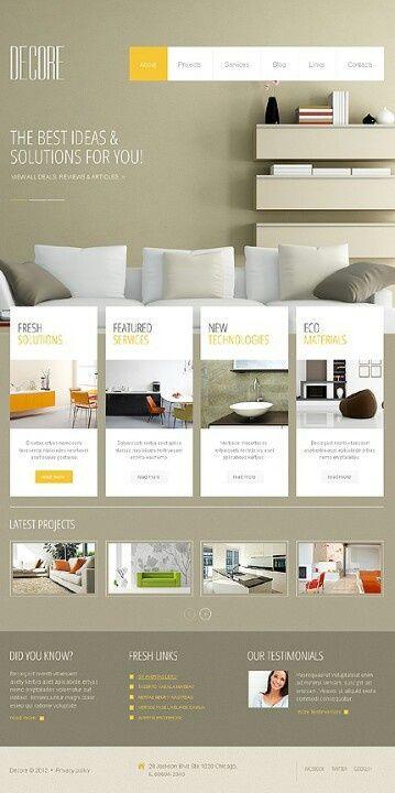Interior website templates web app for Interior design web app