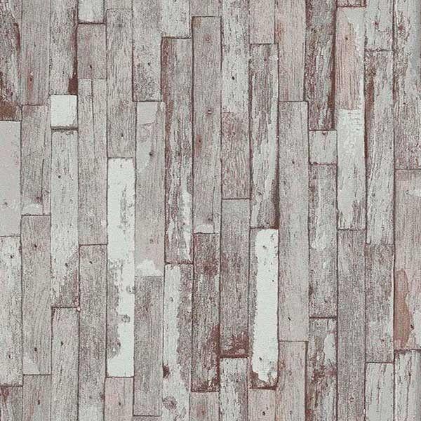 Papel pintado imitaci n listones de madera desgastada - Papel imitacion madera ...