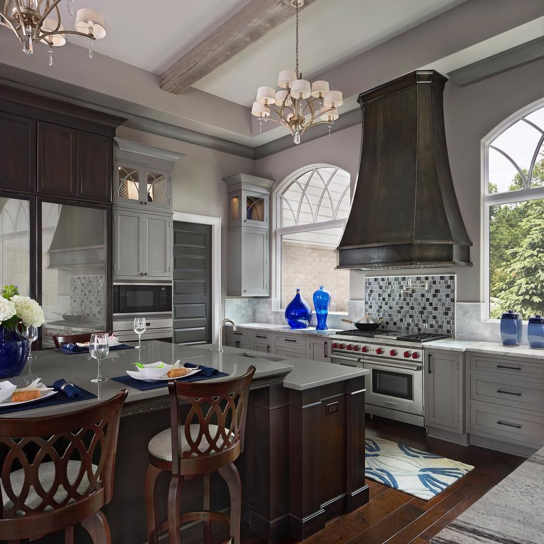 gray kitchen cabinetry is ever so popular today designer zey hilla rh pinterest co uk Merillat Kitchen Cabinets Stain Colors Oak Kitchen Cabinets