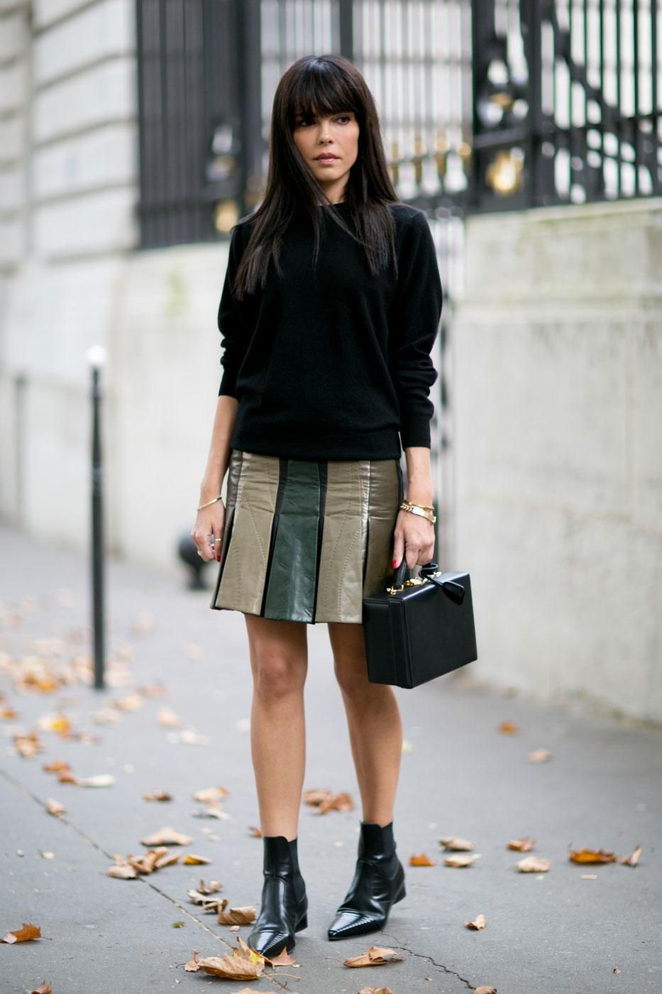 45 Street Style Inspired Ways to Wear a Mini Skirt Through Fall | @StyleCaster