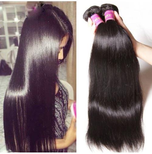 Malaysian Straight Hair 1 Bundle Virgin Unprocessed Human Hair Extensions