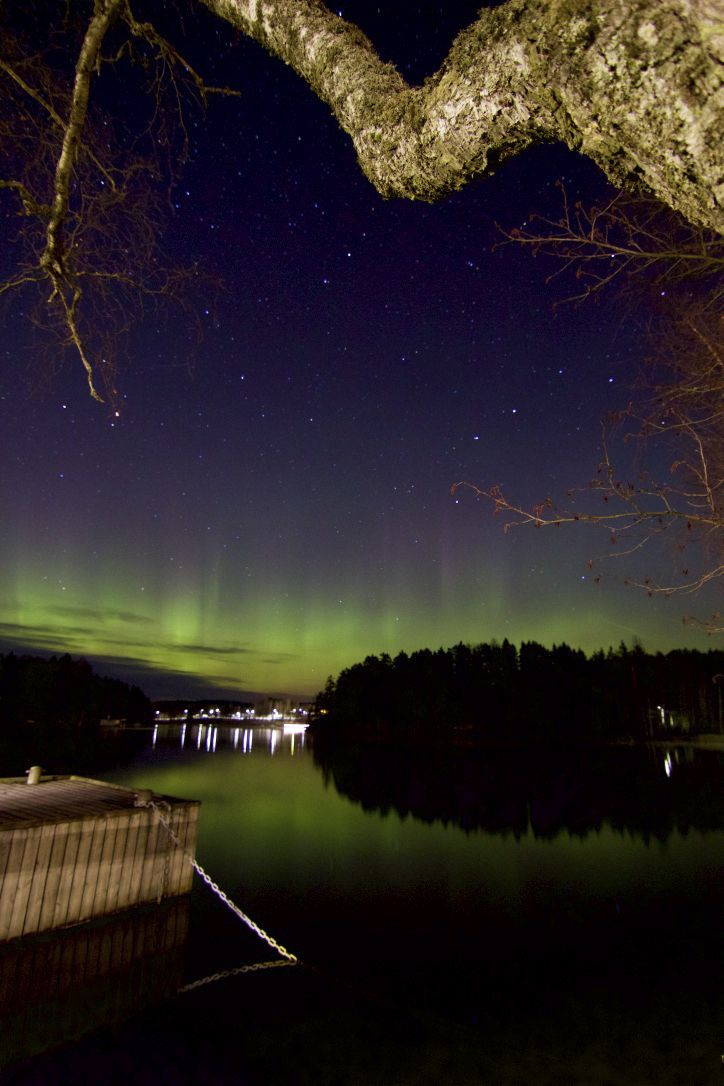 Revontulet ~ Aurora borealis   Maisansalo Tampere Finland 4.11.2016   Photo by Sirpa Pursiainen