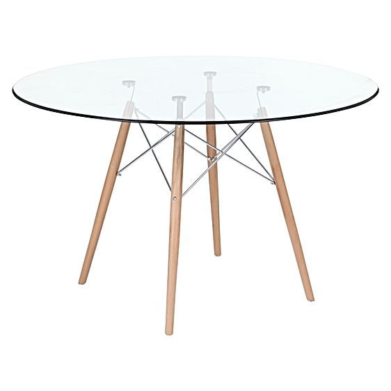 Replica Eames Eiffel Dsw Glass Round Dining Table By Simpel