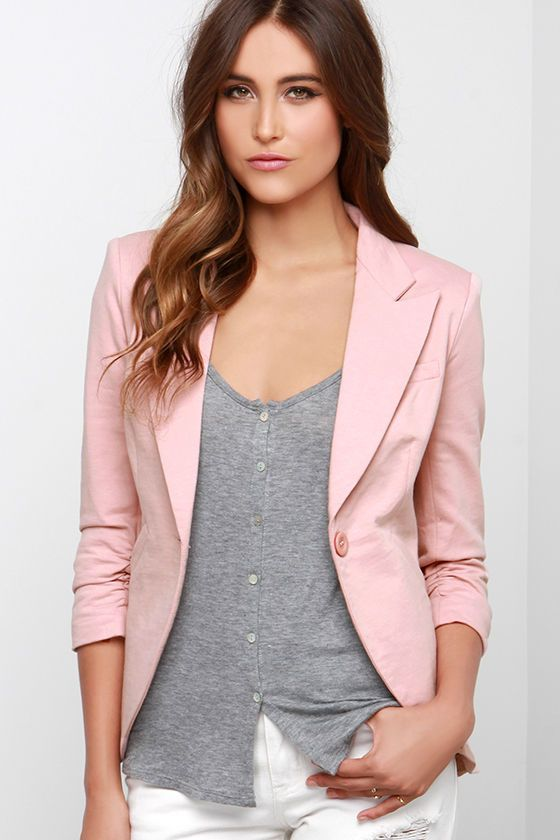 5f206d10b346 Resultado de imagen para blazer rosado | Blazers en 2019 | Blazer ...