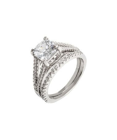 Loving this Swarovski® Crystal   Sterling Silver Princess-Cut Ring ... 44dbac2bb