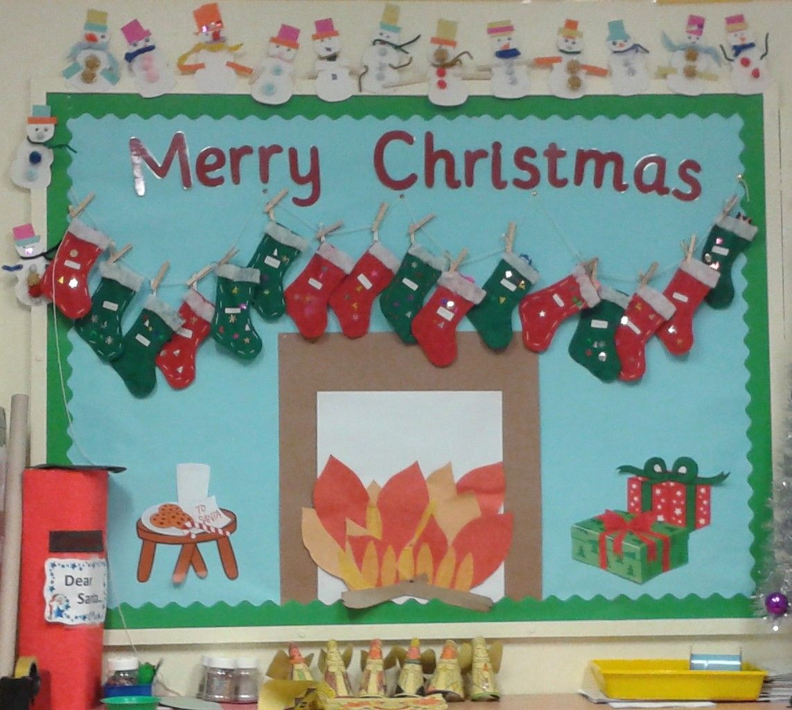 Christmas Classroom Display Children Stitched Their Own