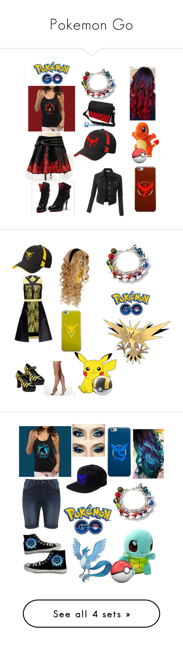 """""""Pokemon Go"""" by anna-paneda ❤ liked on Polyvore featuring art"""