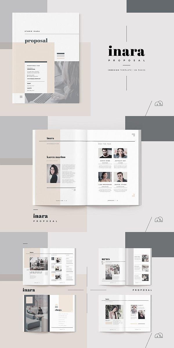 Vorschlag Inara Portfolio Design Layouts Layout Design Broschurendesign