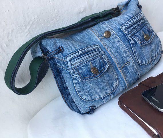 Recycled denim bag, denim bag, jeans bag, denim clutch, denim purse, upcycled denim, Calvin Klein, manbag, vegan bag, eco friendly bag