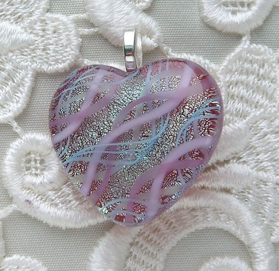 Dichroic Glass Fused Glass Jewelry Lampwork by GalaxyGlassStudio, $28.00