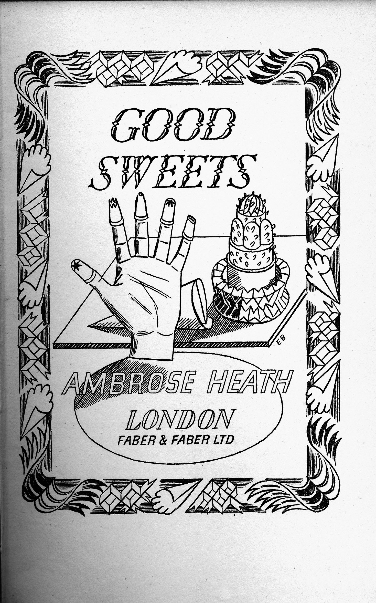 Title Page Drawing By Edward Bawden For Good Sweets By