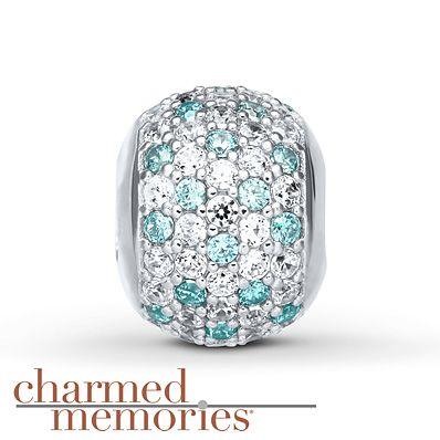 Charmed Memories Green Cubic Zirconia Sterling Silver Charm bwTqpfJj