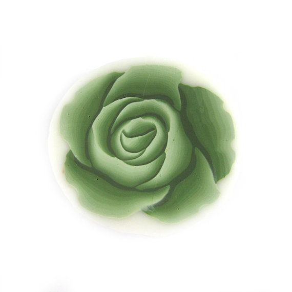 Rose Cane Polymer Clay Cane Millefiori Olive Rose Cane   Bastones ...
