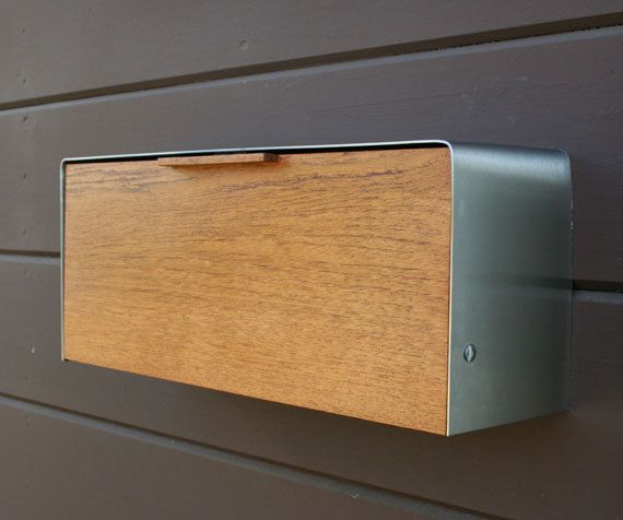 Modern Mailbox Small Teak Mailbox Wall Mounted