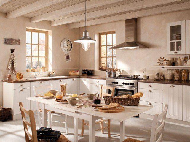 Cocinas Blancas Rusticas Buscar Con Google Deco Cocinas