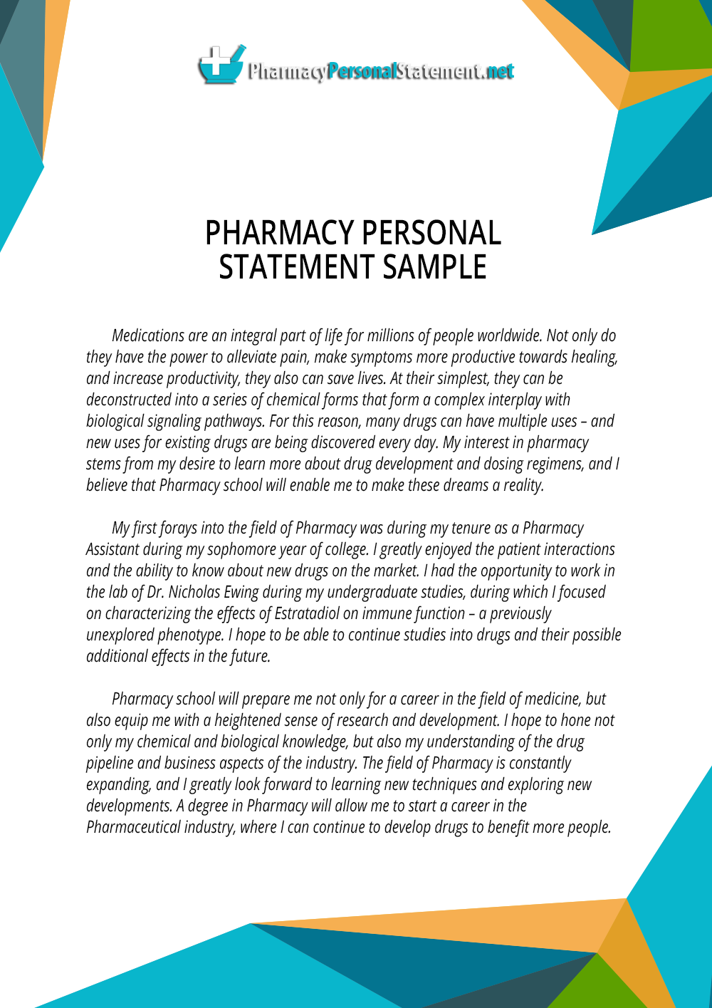 Pharmacy School Personal Statement Editing- EssayEdge