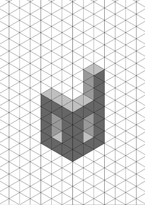 letter d 3d shadow test isometric paper  this is