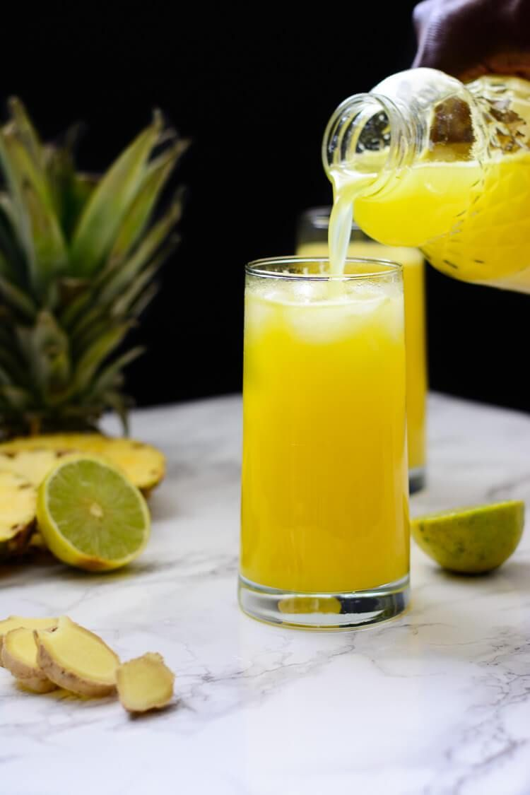 Pineapple Ginger Juice Healthy And Homemade Recipe Healthy Juices Juicing Recipes Healthy Juice Recipes
