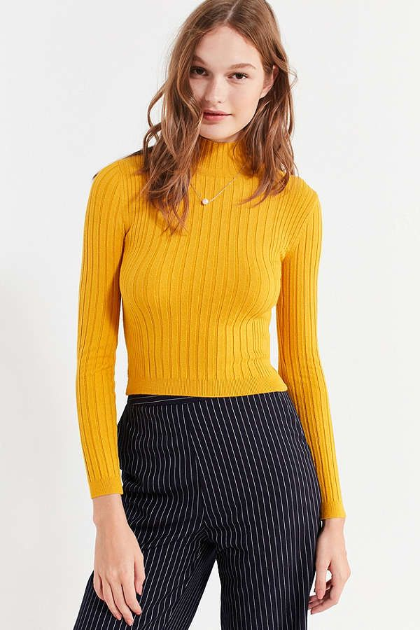 f0175900fb Slide View  1  Cooperative Cindy Ribbed Mock-Neck Sweater
