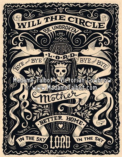 Will The Circle Be Unbroken Bluegrass Gospel Poster $1495 by - old fashioned wanted poster