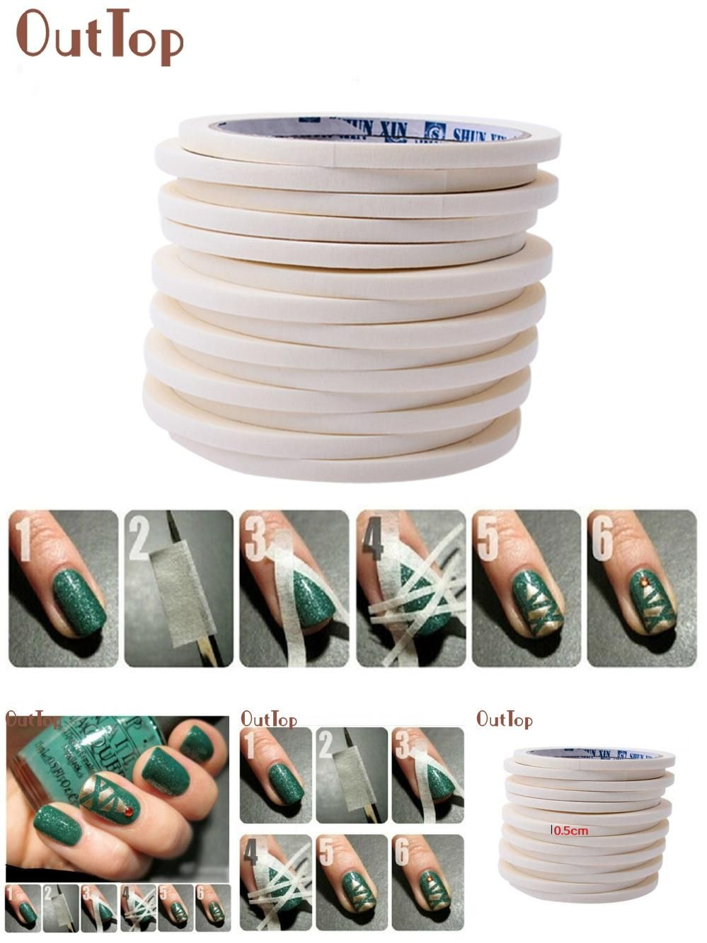 [Visit to Buy] GRACEFUL 17m*0.5cm French Style Manicure