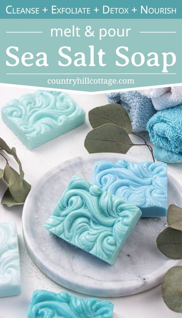 Sea Salt Soap Recipe {Homemade Melt and Pour Soap Salt Bars}
