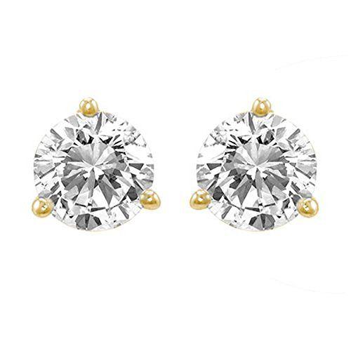 5be433919e6a3 Diamond Earrings Design   13 Carat Solitaire Diamond Stud Earrings ...