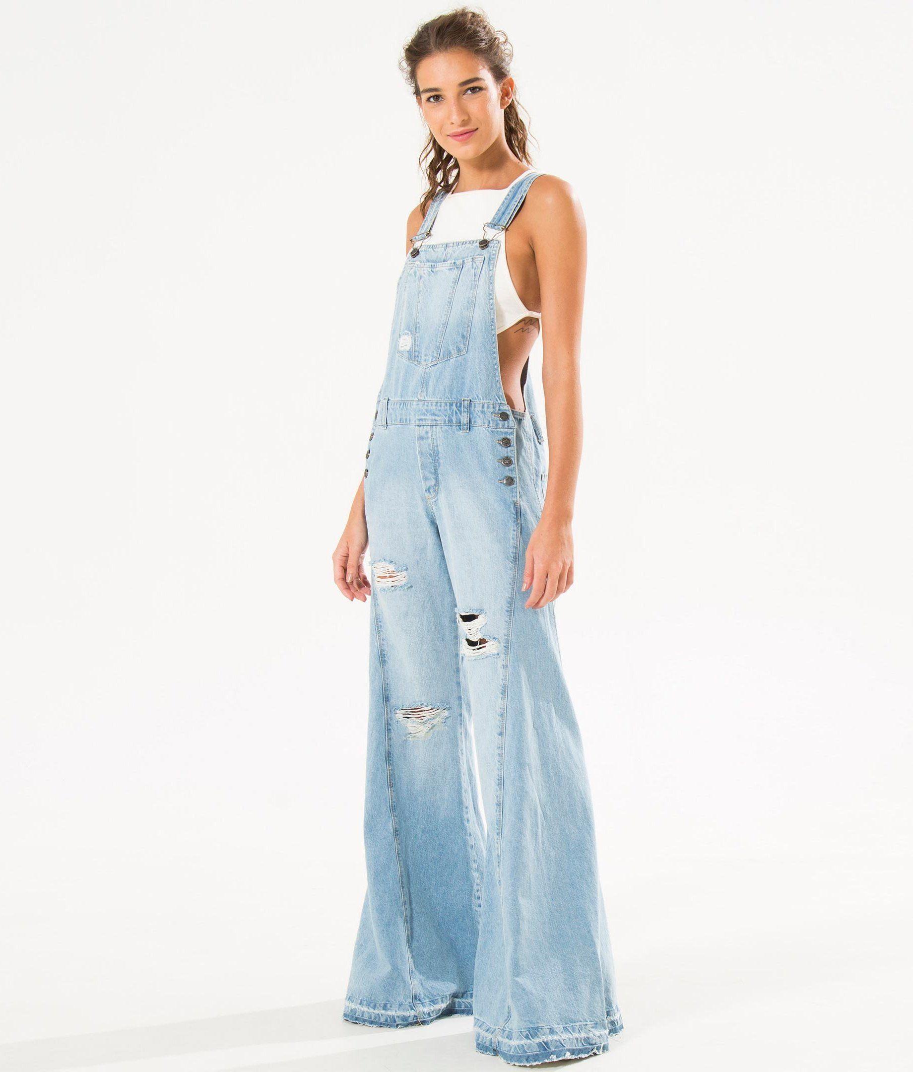 3a443f1aa jardineira jeans detonada | dreamy jeany in 2019 | Jardineira jeans ...