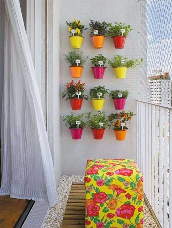 Balcony Decor Interiors Inspiration India Colorful Planters For