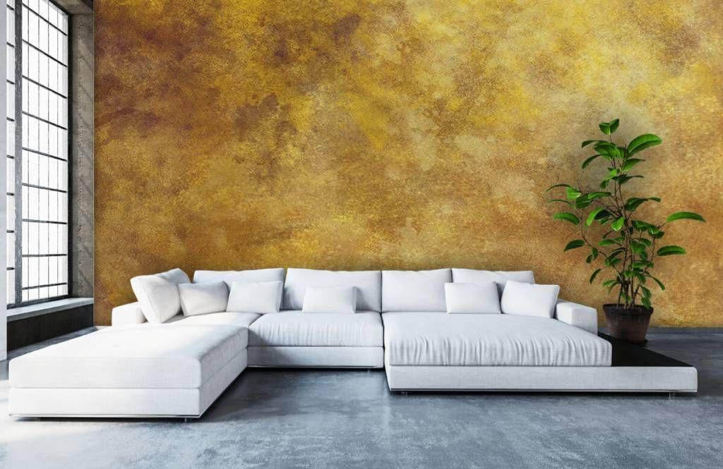 Behang Op Behang.Een Prachtige Structuur Van Oker Geel Beton Op Behang Kies