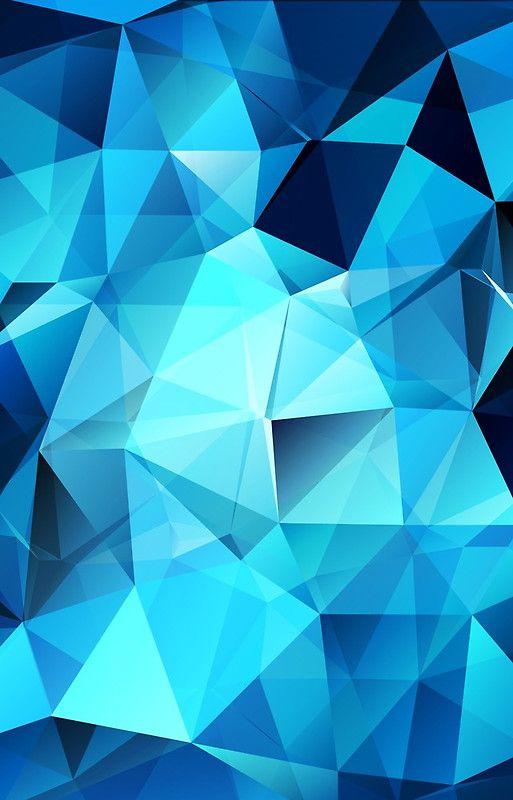 Blue Polygonal Design Case Skin For Samsung Galaxy By Olga