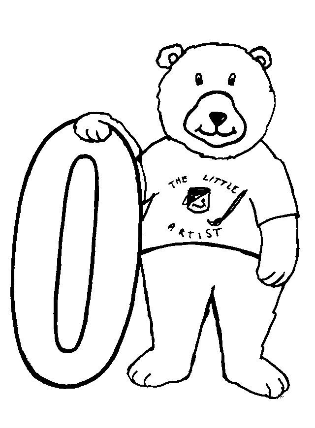 Animal Numbers Zero Bears Bear Coloring Pages Printable Animals