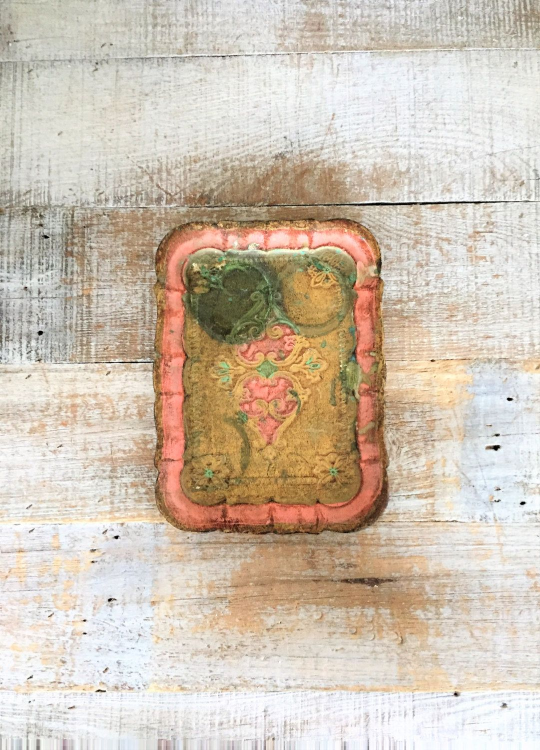 Tray Small Wood Tray French Country Serving Tray Vanity Tray Jewelry Tray Shabby Gold And Pink Tray Centerpiece Base Pink Tray Wooden Tray Wood Tray