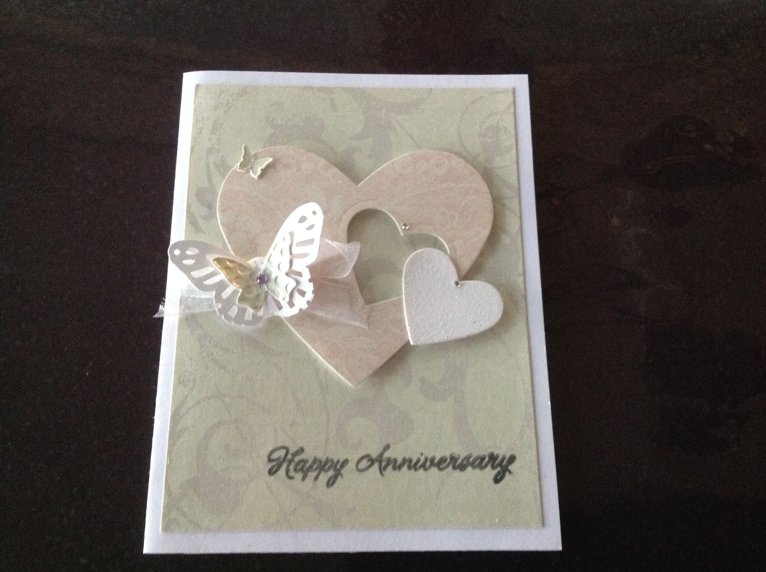 Anniversary Card 1 For J W A August 18 2019 Anniversary Cards Cards Creative