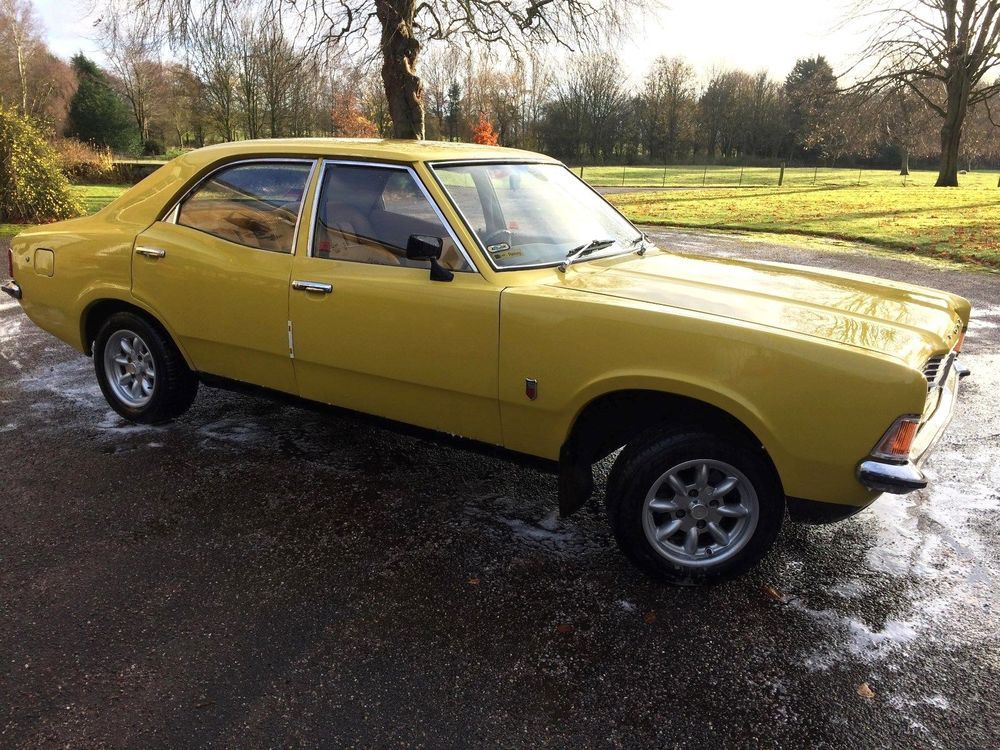 Ebay Daytona Yellow 1973 Ford Cortina Mk 3 1600l 711m Crossflow