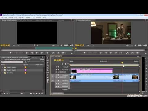 Creating And Editing Titles Premiere Pro Cs6 Youtube Premiere Pro Adobe Premiere Pro Premiere