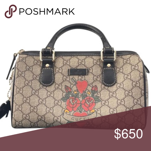 b917178f30d Satchel Purse · Indoor · Authentic Gucci Boston Limited Edition Tattoo  Authentic Gucci Limited Edition Tattoo Boston Joy. New condition