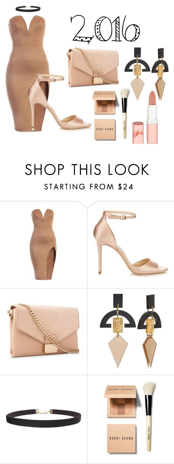 """""""Nude"""" by babyelite on Polyvore featuring Jimmy Choo, Whistles, Toolally, Humble Chic, Bobbi Brown Cosmetics and Rimmel"""
