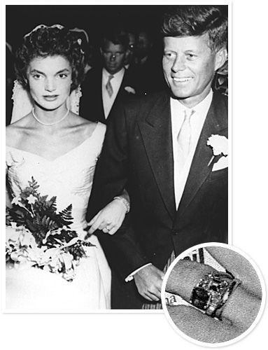 Jackie Bouvier And John F Kennedy President Proposed To With A 2 88 Carat Diamond Ring The Two Married In 1953