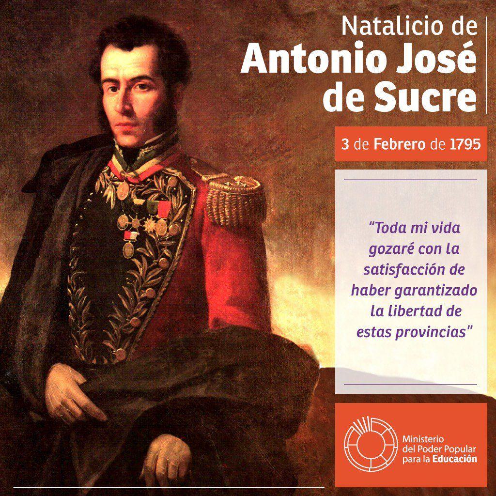 Antonio José De Sucre Búsqueda De Twitter 3 De Febrero